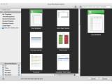 Bild: Vorlagenauwahl in der neuen Excel-Version für den Mac. Bild: Screenshot