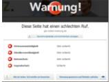 Bild: Web of Trust: Sogar das Firefox-Plugin WOT bewertet das GEZ-Portal als gefährlich