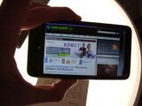 Bild: Webseiten lassen sich auf dem HD7 angenehm betrachten.