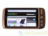 Bild: Webseiten zeigt das HTC Desire äußerst fix an. Generell liegt die Arbeitsgeschwindigkeit auf einem sehr hohen Niveau.