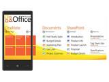 Bild: Windows Phone 7 bündelt Aufgaben und Themenbereiche in sogenannte Hubs. Das Bild zeigt ein Beispiel aus Office. Erste Geräte mit Windows Phone 7 werden in Deutschland ab Oktober in den Handel kommen.