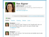 Bild: Dieser Account stammt nicht von Ilse Aigner.