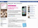 Bild: Aktion der Telekom auf Facebook: das iPhone 4 preisreduziert um 50 Prozent.