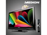 Bild: Aldi Nord bietet ab Donnerstag diesen LCD-Fernseher von Medion mit integrierten DVD-Player an.