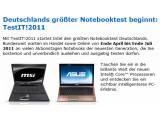 Bild: Den Anfang von Intels Notebook-Test machen Laptops von MSI und Asus.