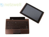 Bild: Das Asus Eee Pad Transformer ist ein Honeycomb-Tablet mit Docking-Tastatur.