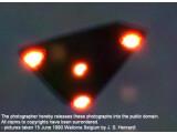 Bild: Berichte über UFO-Sichtungen wie hier in Belgien 1990 gibt es immer wieder. Die US-Regierung hat aber keine Beweise für außerirdisches Leben.