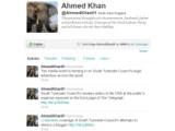 Bild: Der Beschuldigte Ahmed Khan schreibt weiter bei Twitter.