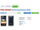 Bild: Der britische Versandhändler Clove nimmt bereits Vorbestellungen für das Samsung Galaxy Note entgegen.