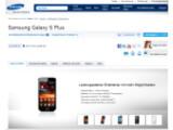 Bild: Auf der deutschen Samsung-Seite können sich Nutzer über das Galaxy S Plus informieren.