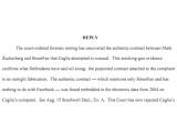 Bild: In diesem Gerichtsdokument beschreiben Facebooks Anwälte die Entdeckung des Originalvertrags.