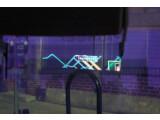 Bild: Ein Display auf Basis der Augmented Reality-Technologie zeigt die Weginformationen an.