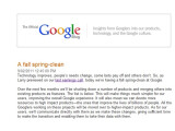 Bild: Die Einstellungen der zehn Projekte wurden im Google Blog angekündigt