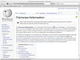 Bild: Der erste Wikipedia-Eintrag in Deutschland handelt von der Polymerase-Kettenreaktion.