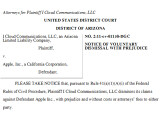 Bild: Die Firma iCloud Communications lässt die Klage gegen Apple fallen.