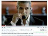 Bild: George Clooney in einem Werbespot auf Youtube. Ist der Schauspieler auf dem Videoportal demnächst auch in exklusiven Clips zu sehen? Bild: Screenshot