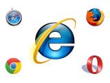 Bild: Im Geschwindigkeitstest treten alle wichtigen Browser gegen den Internet Explorer an.