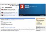 Bild: Google+-Benachrichtigungen in der Browserleiste.