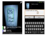 Bild: Bei Google Goggles 1.4 für Android können Nutzer jetzt Notizen zum Suchverlauf hinzufügen.