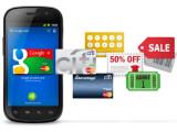 Bild: Mit Google Wallet können unter anderem auch Gutscheine eingelöst werden.