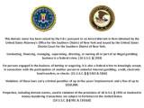 Bild: Dieser Hinweis der US-Bundespolizei FBI prangt auf verschiedenen Webseiten von geschlossenen Online-Poker-Portalen.