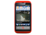 Bild: Auf den INQ-Handys liegt Facebook als Nutzeroberfläche über dem Android-Betriebssystem.