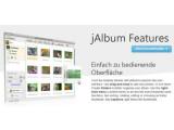 Bild: jAlbum ist ein Programm mit dem Webalben mit wenigen Klicks erstellt werden können.