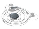 Bild: Der Joystick fürs iPad wird über Saugknöpfe am Tablet-Rechner angebracht.
