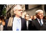 Bild: Julian Assange bei seiner Anhörung vor dem High Court in London im Juli.