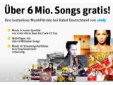 Bild: Kabel Deutschland und simfy bieten kostenlosen Zugriff auf rund 6 Millionen Songs.
