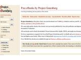 Bild: Keine Konkurrenz für Google, aber trotzdem nützlich. Beim freien Project Gutenberg sind über 33000 Werke als E-Book kostenlos erhältlich.