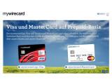 Bild: Die Kreditkarten von mywire gibt es als Visa- oder MasterCard.