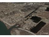 Bild: Ein küstennaher Abschnitt Sendais, aufgenommen vom Google-Satelliten.