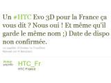 Bild: Laut einem Tweet von HTC Frankreich können deutsche Nutzer auf das HTV Evo 3D hoffen.