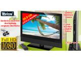 Bild: Der LCD-Fernseher von Tevion besitzt eine abnehmbare Soundbar.