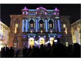 """Bild: Beim Lichterfest in Lyon wurde ein Gebäude als """"Urban Flipper"""" verwendet."""