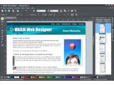 Bild: Magix Web Designer 7 ermöglicht eine pixelgenaue Positionierung von Text und Bild.