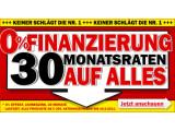 Bild: MediaMarkt lockt mit einer 0-Finanzierung bis zum 19. Februar.