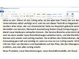 Bild: Mit Microsofts World Web App nutzt der Anwender die Online-Version von Word. Die Daten kann er problemlos mit der Desktop-Version von Office austauschen.
