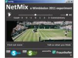 Bild: Der NetMix-Player balanciert Kommentator-Lautstärke und Platzgeräusche aus.