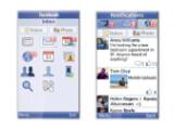 Bild: Die neue Java-App läuft auch auf einfachen Handys, greift auf den Newsfeed zu und zeigt Benachrichtigungen an.