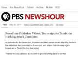 Bild: Newshour ist wegen dem Hacker-Angriff auf Tumblr ausgewichen.