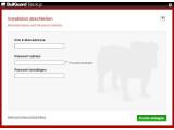 Bild: Nutzer von Online Backup müssen sich bei BullGuard registrieren.