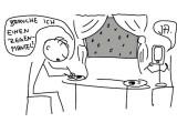 Bild: Ohne die neue Sprachsteuerung wären wir alle aufgeschmissen (Zeichnung: Romi Bodoni)