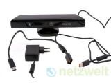 Bild: Die PC-Version von Microsoft Kinect erscheint mit einem kürzeren USB-Kabel und einem kleinen Stecker.