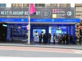 Bild: Vor Samsungs temporärem Laden in Sydney bildete sich eine lange Schlange.