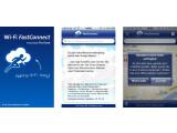 Bild: Um schneller auf O2-Hotspots zuzugreifen, bietet The Cloud die FastConnect-App an.