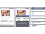 Bild: Simplepedia erlaubt die Anpassung von Schriftgröße und Zeilenabstand.