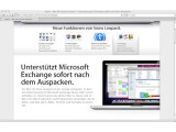 Bild: Seit Snow Leopard unterstützt der Mac die Exchange-Protokolle.