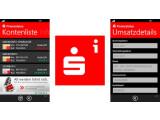 Bild: Die Sparkasse bietet eine Finanzstatus-App für WP7 an.